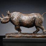 Running-black-rhino
